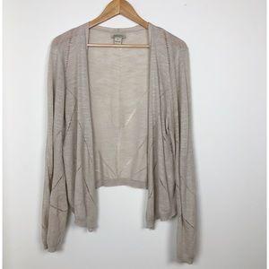 Lucky Brand linen open front cardigan size XL